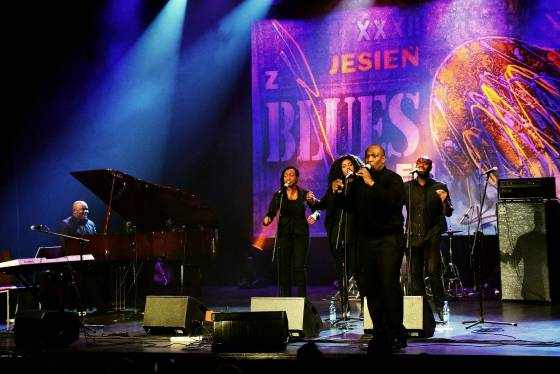 Peter Mante's Gospel Project at kino Forum, Białystok, during 32. Jesień z Bluesem 2016 festival