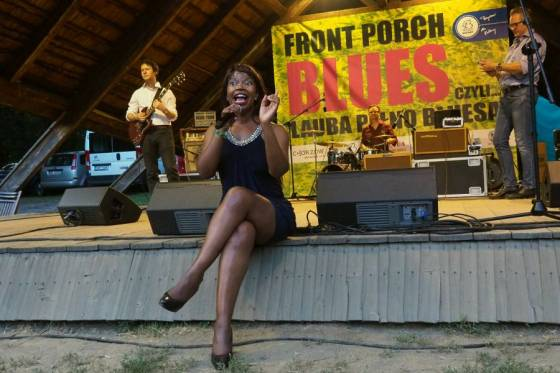 Juwana Jenkins during Front Porch Blues aka Lauba Pełno Bluesa 2017, Chorzów, Poland